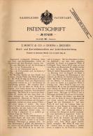 Original Patentschrift - E. Moritz & Co. In Dohna B. Dresden , 1895 , Maschine Für Leder , Gerberei !!! - Maschinen
