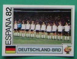 TEAM WEST GERMANY SPAIN 1982 #152 PANINI FIFA WORLD CUP STORY STICKER SOCCER FUSSBALL FOOTBALL - Panini