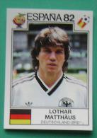 LOTHAR MATTHAUS GERMANY SPAIN 1982 #155 PANINI FIFA WORLD CUP STORY STICKER SOCCER FUSSBALL FOOTBALL - Engelse Uitgave