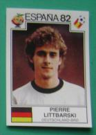 PIERRE LITTBARSKI GERMANY SPAIN 1982 #156 PANINI FIFA WORLD CUP STORY STICKER SOCCER FUSSBALL FOOTBALL - Engelse Uitgave
