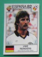 UWE REINDERS GERMANY SPAIN 1982 #160 PANINI FIFA WORLD CUP STORY STICKER SOCCER FUSSBALL FOOTBALL - Panini