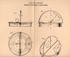 Original Patentschrift - L. Braun In Dresden , 1895 , Taschen . Sonnenuhr , Sonne , Sundial , Cadran Solaire !!! - Antike Uhren