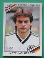 MATTHIAS HERGET GERMANY MEXICO 1986 #184 PANINI FIFA WORLD CUP STORY STICKER SOCCER FUSSBALL FOOTBALL - Panini