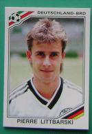 PIERRE LITTBARSKI GERMANY MEXICO 1986 #190 PANINI FIFA WORLD CUP STORY STICKER SOCCER FUSSBALL FOOTBALL - Panini