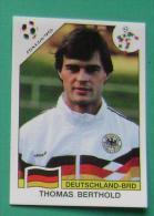THOMAS BERTHOLD GERMANY ITALY 1990 #196 PANINI FIFA WORLD CUP STORY STICKER SOCCER FUSSBALL FOOTBALL - Engelse Uitgave