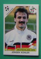 JURGEN KOHLER GERMANY ITALY 1990 #197 PANINI FIFA WORLD CUP STORY STICKER SOCCER FUSSBALL FOOTBALL - Engelse Uitgave
