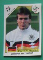LOTHAR MATTHAUS GERMANY ITALY 1990 #204 PANINI FIFA WORLD CUP STORY STICKER SOCCER FUSSBALL FOOTBALL - Engelse Uitgave