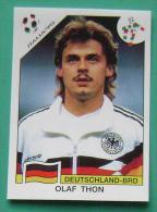 OLAF THON GERMANY ITALY 1990 #205 PANINI FIFA WORLD CUP STORY STICKER SOCCER FUSSBALL FOOTBALL - Panini