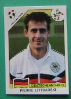 PIERRE LITTBARSKI GERMANY ITALY 1990 #208 PANINI FIFA WORLD CUP STORY STICKER SOCCER FUSSBALL FOOTBALL - Engelse Uitgave