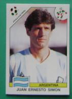JUAN ERNESTO SIMON ARGENTINA ITALY 1990 #214 PANINI FIFA WORLD CUP STORY STICKER SOCCER FUSSBALL FOOTBALL - Panini