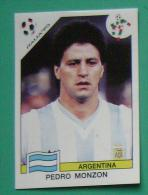 PEDRO MONZON ARGENTINA ITALY 1990 #216 PANINI FIFA WORLD CUP STORY STICKER SOCCER FUSSBALL FOOTBALL - Panini