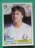 JULIO JORGE OLARTICOECHEA ARGENTINA ITALY 1990 #217 PANINI FIFA WORLD CUP STORY STICKER SOCCER FUSSBALL FOOTBALL - Panini