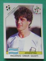 RICARDO OMAR GIUSTI ARGENTINA ITALY 1990 #218 PANINI FIFA WORLD CUP STORY STICKER SOCCER FUSSBALL FOOTBALL - Panini