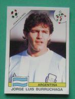JORGE LUIS BURRUCHAGA ARGENTINA ITALY 1990 #223 PANINI FIFA WORLD CUP STORY STICKER SOCCER FUSSBALL FOOTBALL - Panini