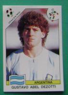 GUSTAVO ABEL DEZOTTI ARGENTINA ITALY 1990 #227 PANINI FIFA WORLD CUP STORY STICKER SOCCER FUSSBALL FOOTBALL - Panini
