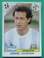 GABRIEL CALDERON ARGENTINA ITALY 1990 #228 PANINI FIFA WORLD CUP STORY STICKER SOCCER FUSSBALL FOOTBALL - Panini