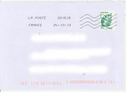 Anomalie : TVP Lettre Verte Marianne De Beaujard Décentré à Gauche + Toshiba 03151A - 1961-....