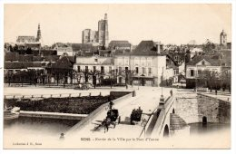 CP, 89, SENS, Entrée De La Ville Par Le Pont D'Yonne, Vierge - Sens