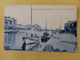 Dep 34 , Cpa PALAVAS Les FLOTS , 635 , Le Canal Et Les Deux Rives  (013)Recto/Verso - Palavas Les Flots