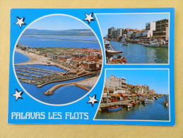 Dep 34 , Cpm PALAVAS Les FLOTS , Multivues , 15906 , Vue Aérienne Et Les Deux Rives Du Canal (057)Recto/Verso - Palavas Les Flots