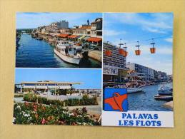 Dep 34 , Cpm  PALAVAS Les FLOTS  , Multivues , 3 CP 80 1516 , 34.192 (181)Recto/Verso - Palavas Les Flots