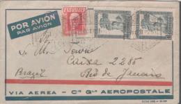LETTRE BARCELONA-BRASIL VIA AEREA AEROPOSTALE  1932 - Aviation