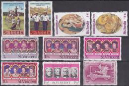 Saint-Vincent, Saint-Lucia : Lot De 10 Timbres - St.Vincent & Grenadines