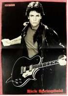 Kleines Musik-Poster  -  Rick Springfield  -  Rückseite : Bryan Ferry ( Roxy Music )  -  Von Pop Rocky Ca. 1982 - Plakate & Poster