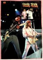 Kleines Musik-Poster  -  Band Cheap Trick  -  Rückseite : James Dean  -  Von Pop Rocky Ca. 1982 - Plakate & Poster
