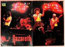 Kleines Musik-Poster  -  Gruppe Nazareth  -  Rückseite : Patrick Duffy  -  Von Pop Rocky Ca. 1982 - Plakate & Poster