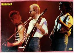 Kleines Musik-Poster  -  Band Wishbone Ash  -  Rückseite : Howard Carpendale  -  Von Pop Rocky Ca. 1982 - Plakate & Poster