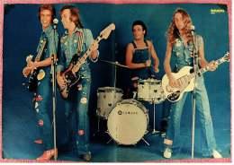 Kleines Musik Poster  -  Band Hello  -  Von Bravo Ca. 1982 - Plakate & Poster