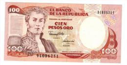 100 Pesos 1991 , UNC. - Colombia