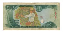 """200 Pesos 1974 , F. """"Cafetero"""" - Colombia"""