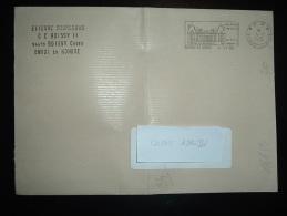 LETTRE OBL.MEC. 4-11-1992 PP 94 BOISSY ST LEGER (94 VAL DE MARNE) + PORT PAYE + CHATEAU DE GROS-BOIS - Marcophilie (Lettres)