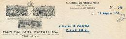 VEROLENGO - BORGOMANERO - TORINO MANIFATTURE PERETTI & C.1954 - Italy