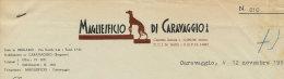 CARAVAGGIO (BERGAMO) MAGLIEIFICIO DI CARAVAGGIO 1954 - Italy