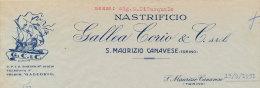 SAN MAURIZIO CANAVESE (TORINO) NASTRIFICIO GALLEA CORIO & C.1951 - Italy