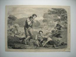 GRAVURE 1864. L'ETE. D'APRES UN TABLEAU DE M. HUNT. - Prints & Engravings