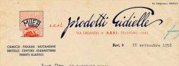 BARI CAMICIE PIGIAMI MUTANDINE.. PRODOTTI GIDIELLE 1958 - Italy