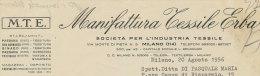 MANIFATTURA TESSILE ERBA 1956 - Italia