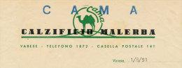 VARESE CAMA CALZIFICIO MALERBA 1951 - Italia