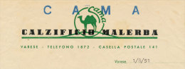 VARESE CAMA CALZIFICIO MALERBA 1951 - Italy
