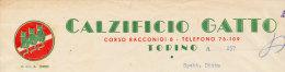TORINO CALZIFICIO GATTO 1951 - Italia