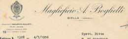 BIELLA (VERCELLI) MAGLIEFICIO A. BOGLIETTI 1956 - Italia