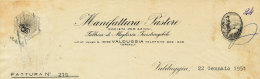 VALDUGGIA (VERCELLI) MANIFATTURA PASTORE 1951 - Italy