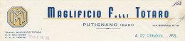 PUTIGNANO (BARI) MAGLIFICIO F.LLI TOTARO 1953 - Italy