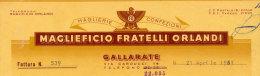 GALLARATE MAGLIEFICIO FRATELLI ORLANDI MAGLIERIE 1951 - Italy