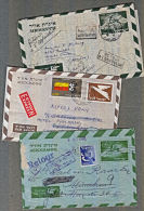 D0147 ISRAEL, 3 @ Aerogrammes (to Monaco, Austria & Germany) Returned To Sender - Israel
