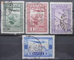 A6388 - Greece - 1933 - SC. C15 -C18 -  (50 Has Yellow Spot) - Usati